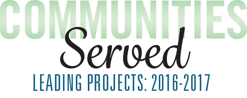 Communities Served: Leading Projects: 2013-2015